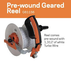 Gallagher Pre Wound Geared Electric Fence Grazing Reel And Turbo Wire Gallagher Electric Fencing From Valley Farm Supply