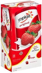yoplait low fat strawberry yogurt 8