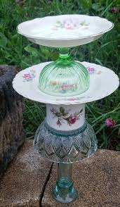 diy repurposed vintage dishes bird