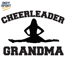 Cheerleader Grandma Text With Silhouette Female Decal Car Stickers And Decals
