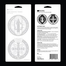 St Benedict Medal Double Car Decal The Catholic Gift Store