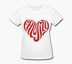 T Shirt Decal Family Sticker Tattoo T Shirt Tshirt White Text Heart Sticker Png Nextpng