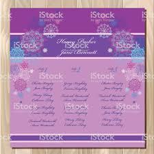 Tabla De Lista De Invitados Vector Fondo Con Invierno Snowflakes