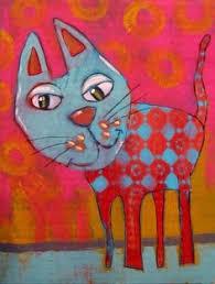 Image result for cuadros de gatos kawaii