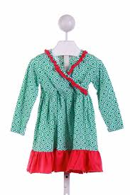 southern tots green cal dress with
