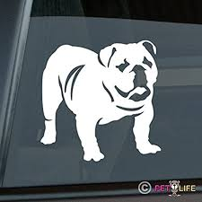 Amazon Com English Bulldog Sticker Vinyl Auto Window Sticker Automotive
