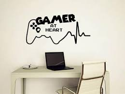 Gamer At Heart Wall Decals Gamer Room Wall Decal Video Game Etsy
