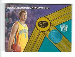 2007-08 Bowman Elevation Adam Haluska Rookie JERSEY Hornets 19/29   eBay