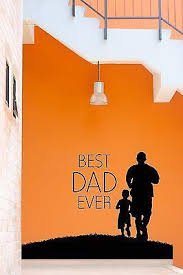 Wall Stickers Vinyl Decal Quote Best Dad Ever Jogging Running Sport Z Wallstickers4you