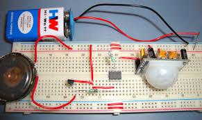 burglar alarm project with circuit diagram