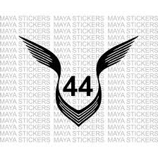 Lewis Hamilton 44 Logo With Wings Decal Stickers Hamilton Wallpaper Logo Sticker Lewis Hamilton