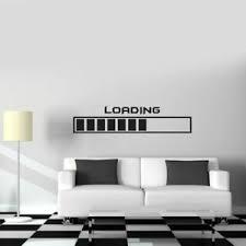 Gamer Vinyl Wall Decal Gaming Loading Joystick Room Decor Wall Stickers Design Ebay
