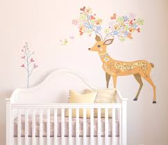 Deer Floral Wall Decal Simply Peel And Stick Sold By Rocky Mountain Decals On Storenvy