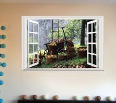 Creative Bumper Harvest Home Decoration Removable Wall Decals Living Room Wall Background 3d Realistic Fake Window Sticker Window Sticker Christmas Window Mobile 6 Phonewindow Glass Sticker Aliexpress