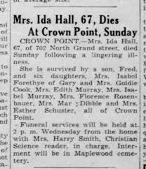 Mrs Ida Hall, 67, passes - Newspapers.com