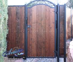 Wrought Iron And Wood Gate Wrought Iron Gates Pinterest Wood Gate Wrought Iron Fences Wrought Iron Gates