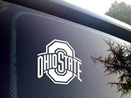 Amazon Com Viavinyl Osu Ohio State University Vinyl Stick Decal Block O Format For Car And Truck Automobile Windows Macbook And Laptops Iphone And Android Phones Yeti And Rtic Tumbler Cups White 3 Inches Automotive