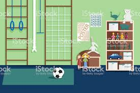 Illustration Of Interior Of Childrens Game Room Stock Illustration Download Image Now Istock