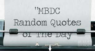 com mbdc random quotes of the day tentang