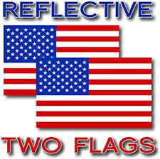 Amazon Com Ez Cut Pro 2x Reflective Usa American Flag Decal 3m Stickers Exterior Various Sizes 3 X 1 75 Automotive