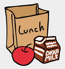 bag lunch with milk and apple