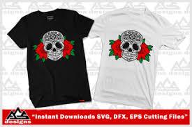 Sugar Skull Roses Svg Design Digitanza