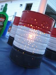 Easy Inexpensive can luminaries for any patriotic event or backyard bbq.  Recycle canned food… | 4th of july party, 4th of july celebration, 4th of  july decorations