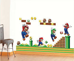 Super Mario Children Wall Stickers 2 For 20 Boys Room Wall Decals