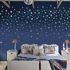Brushed Silver Stars Wall Stickers For Home Decoration Pvc Removable Wall Stickers Wall Decals Wall Papers For Kids Room Wall Stickers Aliexpress