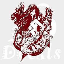 Sexy Mermaid Girls Anchor Fantasy Sea Car Boat Truck Window Vinyl Decal Sticker Ebay