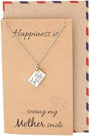 jewelry i love you mom pendant necklace