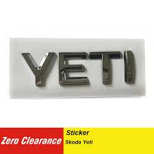 5ld 853 687e Car Sticker 3d Abs Letters Decal Badge Emblem Chrome Logo For Skoda Yeti 2014 5ld853687e 5ld 853 687 E Car Styling Emblems Aliexpress