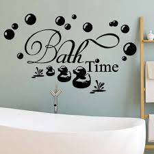 Bath Time Home Decor Wall Sticker Decal Bedroom Vinyl Art Mural Decoration Gift Diy Decal Creativity Wall Stickers Aliexpress