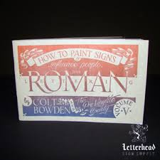 roman lettering styles book