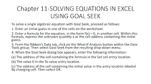 solving equations in excel using solver