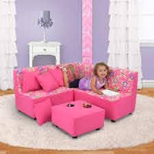 Kid S Sectional Set Daisy Doodle With Passion Pink Kfs Stores