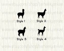 Alpaca Car Decal Alpaca Decal Llama Car Decal Lama Decal Etsy