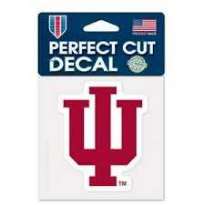 Indiana Hoosiers 4 X4 Perfect Cut Car Decal New Ncaa Auto Sticker Emblem 32085528582 Ebay