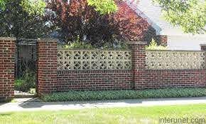 Brick Fences And Gates Brick Fence Balcony Grill Design Compound Wall Design