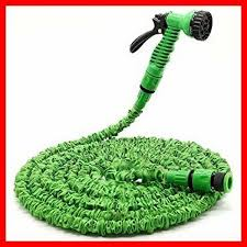 100ft expandable garden hose with spray