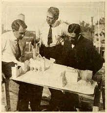 File:Photograph of Director Frank Powell (left) examining set ...
