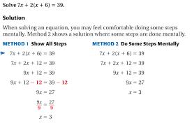 3 3 solve multi step equations math club