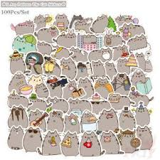 Pusheen Cat Cute Pvc Stickers For Luggage Laptop Car Skateboard Toy Sticker Gift Shopee Malaysia