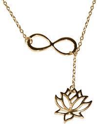 lotus flower infinity lariat