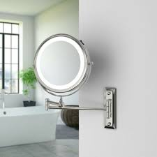wall mounted 5x magnifying mirror