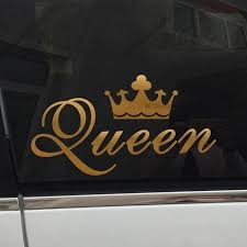 Gold King Or Queen Crown Vinyl Car Decal Sticker Iconic Royalty