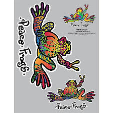 Peace Frogs Peace Frogs Sticker 25003cs Advance Auto Parts