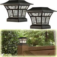 2 Pack Bronze Solar Led Deck Post Cap Light 4x4 6x6 Outdoor Garden Lighting 59 1000 In 2020 Best Solar Lights Outdoor Garden Lighting Deck Lighting