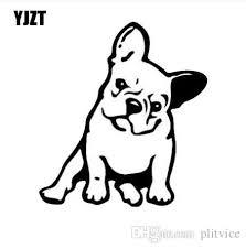 2020 Yjzt 11 5 12 7cm French Bulldog Dog Vinyl Decal Window Decoration Lovely Animal Car Sticker Black Silver C6 1349 From Plitvice 2 46 Dhgate Com