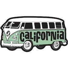 Decal Vw Bus California Sticker By Tim Ward